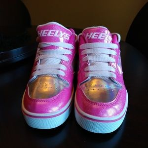Heelys youth girl pink and silver